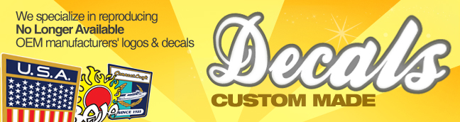 Custom made decals for boats outboards for Custom outboard motor decals